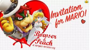 Super Mario Odyssey peach and bowser invitation 2