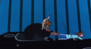 Oliver and Dodger ambushing Sykes to save Jenny
