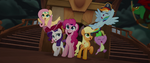 Main ponies and Spike dressed as pirates MLPTM