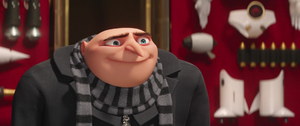 Gru is smiling about fun