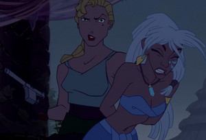 Kida held prisoner by Rourke and Helga