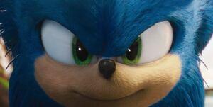 Sonic's heroic grin
