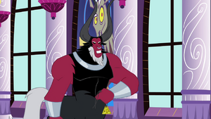 Tirek taking off with the medallion S4E26