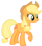 Applejack hoves up