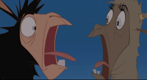 Kuzco comical scream