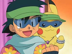 Ash & Pikachu Hawaiian-Style