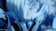 Clare kisses Raki