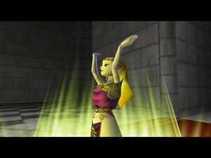 Zelda OOT 64 Zelda Giving a Link the Light Arrow