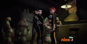 Turtles, April, Shinigami and Karai