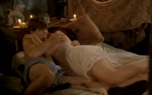 Dennis (Matthew Lawrence) in his boxers with Odette (Gaby Hoffmann) in (Strike! - All I Wanna Do - The Hairy Bird) making Odette happy again when her lifelong wish was not fulfilled that night