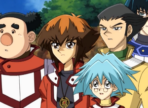 Jaden, Chumley, Syrus and Bastion