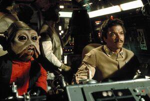 Lando piloting