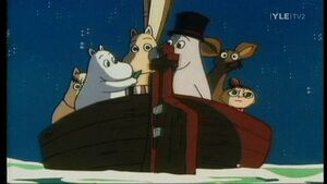 Moomin Family on the sea