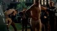 Flat Critters in (Strike! - All I Wanna Do - The Hairy Bird) releasing the first Saint Ambrose boy wearing briefs and Todd Winslow (Robin Dunne) wearing dark colored boxers