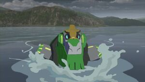 Grimlock is Coming from the Water.