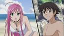 Moka and Tsukune on the Beach.