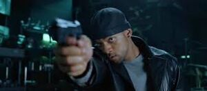 Spooner with a gun