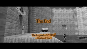 The Legend of Zelda Ocarina of Time 64 THE END Screen