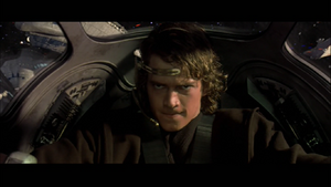 Anakin piloting