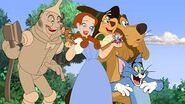 Tin Man, Jerry, Dorothy, Tuffy, Tom, Scarecrow and Cowardly Lion