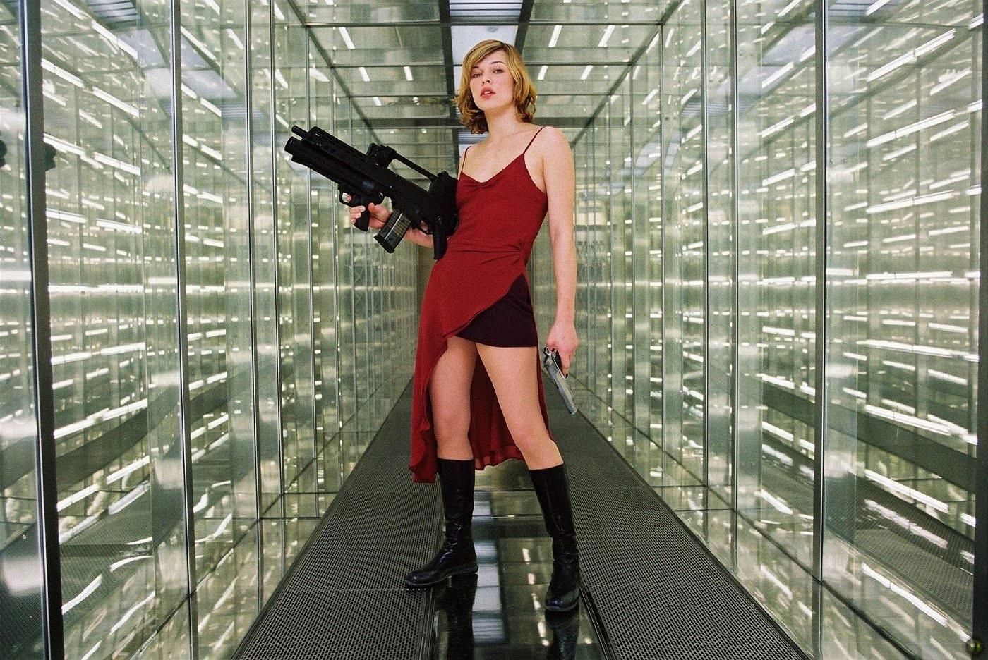 Alice in the 1st Resident Evil film