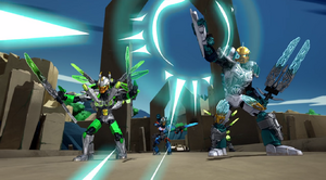BJTO-Kopaka fires his Elemental Ice Blaster 2