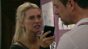 Debbie confronts Cameron over his affair with Chas