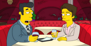 Kent Brockman young in Four Regrettings and a Funeral