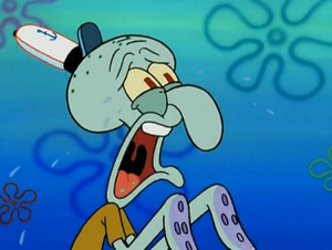 Squidward cry