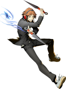 Yosuke Hanamura (BlazBlue Cross Tag Battle, Character Select Artwork)