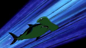 Beast Boy as Hammerhead Shark