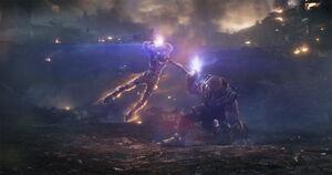 Captain Marvel vs Thanos (Endgame)