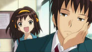 Kyon and Haruhi- Contrasting Moods