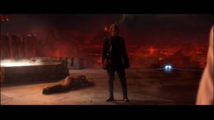 Darth Vader stands