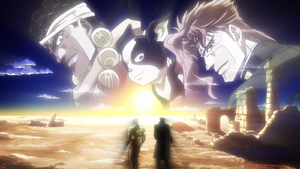 Jotaro, Joseph, we'll always be watching you from here