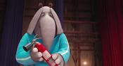 Meena holding a fire retardant gel