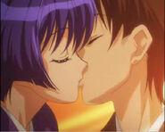 Aoi and Kaoru kiss