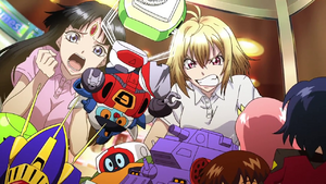 Cross Ange 16 Salamandinay and Ange in Claw Machine