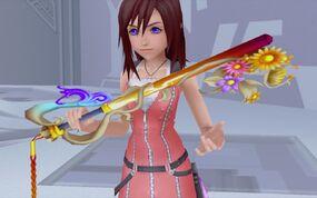 Kairi holding a Keyblade