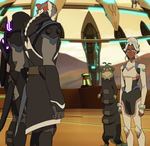 Allura, Kolivan and Slav in Olkarion