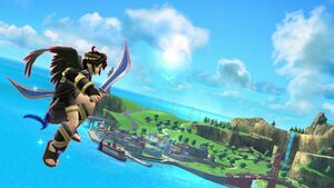 Dark pit flies to the island by user15432-db7q6fe