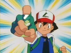 Ash wins the Earth Badge