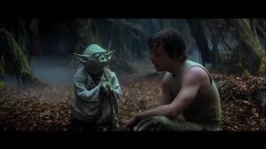 "Empire Strikes Back Yoda training Luke part 3 ""Try not. Do. Or do not. There is no try"