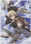 Yande.re 463701 animal ears erica hartmann gertrud barkhorn gun strike witches tail takamura kazuhiro uniform