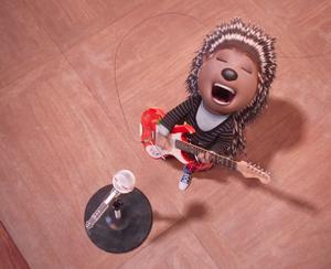 Ash on guitar