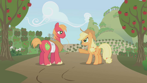 Applejack angry at Big Mac S1E04