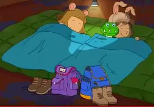 Bud and D.W. sleeping