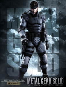 Metal Gear - Solid Snake on the front art cover for Metal Gear Solid The Legacy Collection