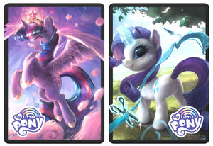 Pincess-twilight-sparkle-and-rarity-mtg-arena-sleeves