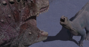 Aladar facing the Carnotaur
